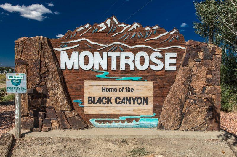 City of Montrose, Colorado sign