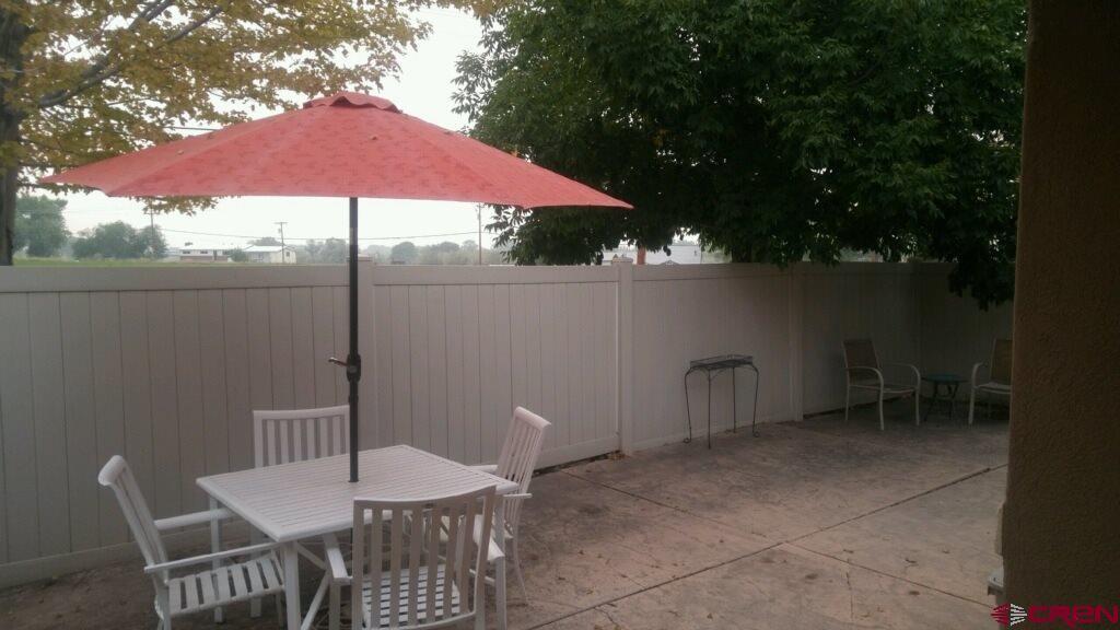 Backyard at 212 Crossroad Circle in Montrose CO